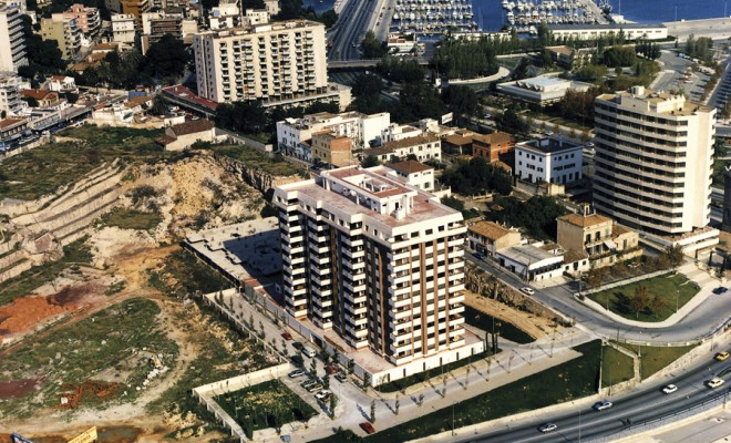 PORTO PI RESIDENTIAL ESTATE Construction project Surface area:  60,000 m² Promotion of 60 apartments in two 12-storey buildings Location: Palma de Mallorca